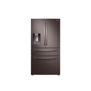 Samsung23 cu. ft. 4-Door French Door, Counter Depth Refrigerator with FlexZone Drawer in Tuscan Stainless Steel