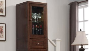 The Wesleyan upper storage cabinet features a flip-down barrister door that...