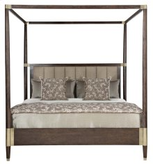 Queen-Sized Clarendon Canopy Bed in Clarendon Arabica (377)