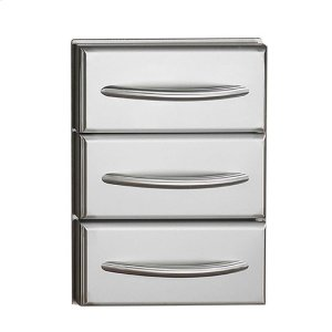 Napoleon BBQFlat Stainless Steel Built-In Triple Drawer Set