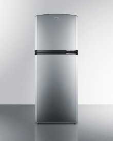 "Counter Depth Frost-free Refrigerator-freezer With Stainless Steel Doors, Black Cabinet, Icemaker, 26"" Footprint, and Left Hand Door Swing"