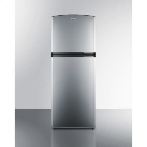 "SummitCounter Depth Frost-free Refrigerator-freezer With Stainless Steel Doors, Black Cabinet, Icemaker, 26"" Footprint, and Left Hand Door Swing"