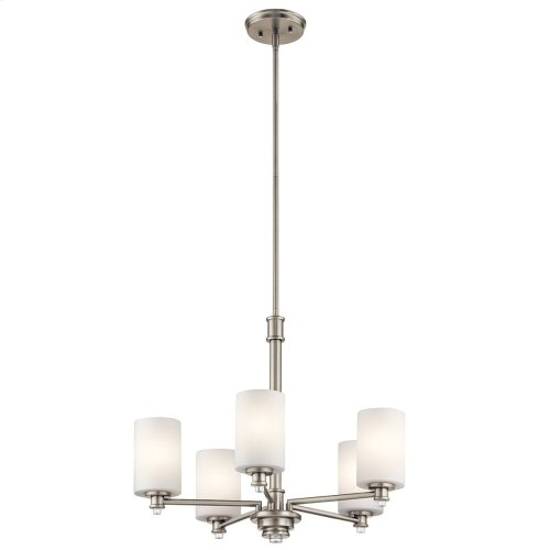 Joelson 5 Light Chandelier with LED Bulbs Brushed Nickel