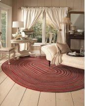 Americana Country Red Braided Rugs