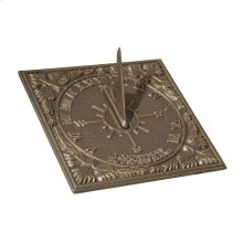 Small Sunny Hours Sundial - French Bronze