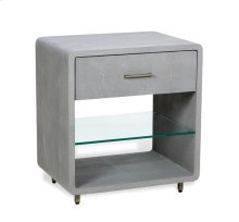 Calypso Bedside Chest - Grey