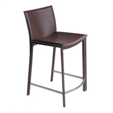 "Panca Counter Stool 26"" Dark Brown"