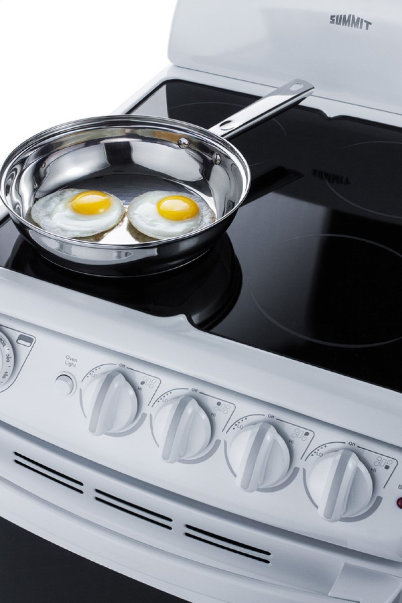 Additional 20 Wide Smooth Top Electric Range In White With Oven Window