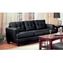 Samuel Transitional Black Sofa