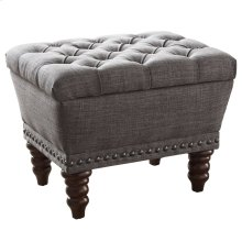 Hampton Storage Bench in Grey