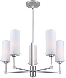 5-lite Chandeliers, Ps/frost Glass Shade, E27 A 60wx5