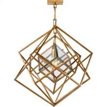 Visual Comfort KW5020G-CG Kelly Wearstler Cubist 22 inch Gild Pendant Ceiling Light, Kelly Wearstler, Small, Chandelier, Clear Glass
