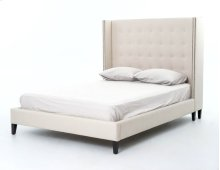 "Queen Size 60"" Headboard Height Jefferson Bed - Snow Cream"
