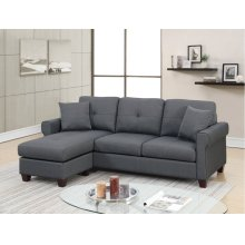F6571 / Cat.19.p2- 2PCS SECTIONAL CHARCOAL
