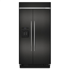 Kitchenaid Black29.5 cu. ft 48-Inch Width Built-In Side by Side Refrigerator with PrintShield Finish - Black Stainless