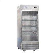 1 Glass Door Stainless Steel Reach-In Refrigerator