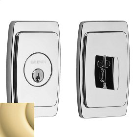 Non-Lacquered Brass Palm Springs Deadbolt