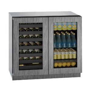 """U-Line Modular 3000 Series 36"""" Beverage Center With Integrated Frame Finish And Double Doors Door Swing (115 Volts / 60 Hz)"""