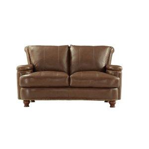 Leather Italia Usa2493 Hutton Loveseat T27 Brown