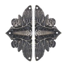 Cicada on Leaves - Antique Pewter