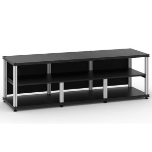 Salamander DesignsSynergy 20 Triple-Width Core Module with Center Opening, Black with Aluminum Posts