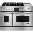 """Pro-Style® Dual-Fuel Range with Griddle and MultiMode® Convection, 48"""", Pro-Style® Stainless Product Image"""