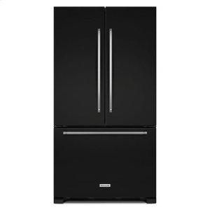 KitchenAid® 22 cu. ft. 36-Inch Width Counter Depth French Door Refrigerator with Interior Dispense - Black - BLACK
