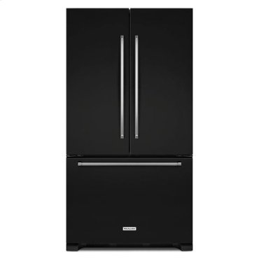 KitchenAid® 22 cu. ft. 36-Inch Width Counter Depth French Door Refrigerator with Interior Dispense - Black