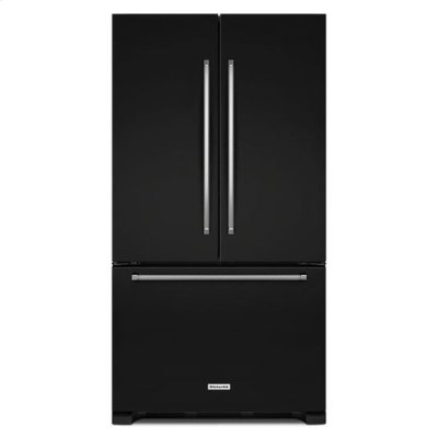 KitchenAid® 22 cu. ft. 36-Inch Width Counter Depth French Door Refrigerator with Interior Dispense - Black Product Image