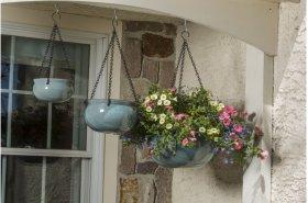 Aqua Hanging Planter - Set of 3