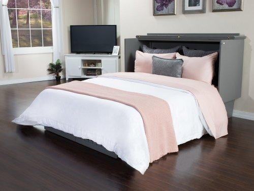Nantucket Queen Murphy Bed Chest in Atlantic Grey