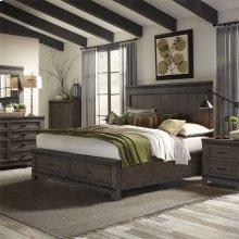 King California Storage Bed, Dresser & Mirror, Chest, N/S