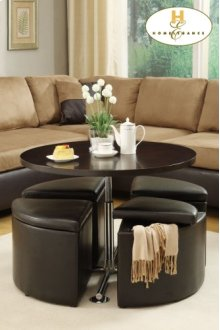 4pc Ottoman Pack with Storage