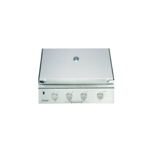 """Heritage 36"""" Outdoor Grill with Infrared Sear Burner, Stainless Steel, Natural Gas"""
