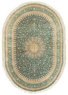 Persian Classics Hand Knotted Oval Rug