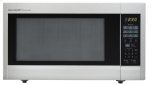 2.2 cu. ft. 1200W  Stainless Steel Carousel Countertop Microwave Oven