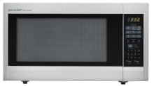 2.2 cu. ft. 1200W Sharp Stainless Steel Carousel Countertop Microwave Oven (R-651ZS)