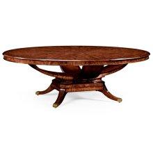 "96"" Biedermeier Style Mahogany Oval Dining Table"