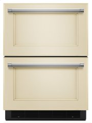 """24"""" Stainless Steel Refrigerator/Freezer Drawer - Panel Ready Product Image"""