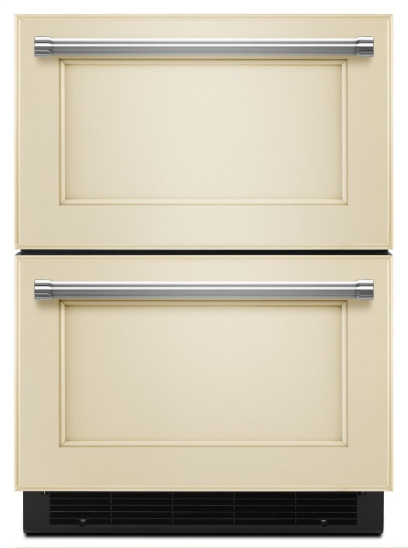 24 Stainless Steel Refrigerator Freezer Drawer Panel Ready