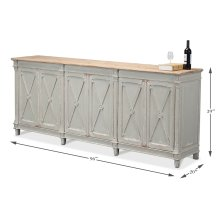 Marksman Cabinet I, Ant. Muted Grey