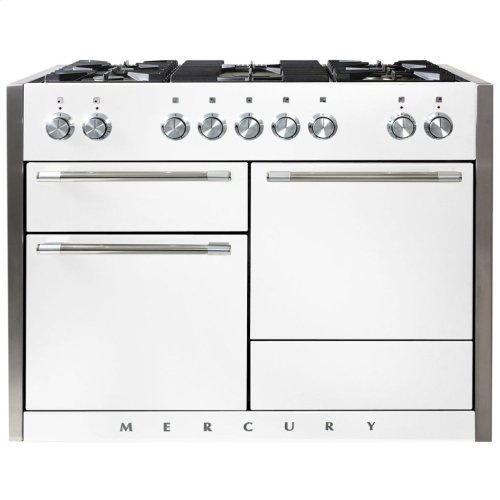 White AGA Mercury Dual Fuel Range  AGA Ranges