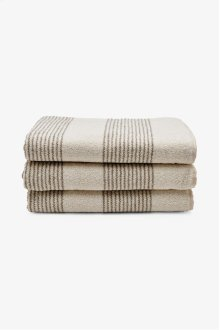 Tasha Sheet Towel Cream with Linen Stripes STYLE: THST01