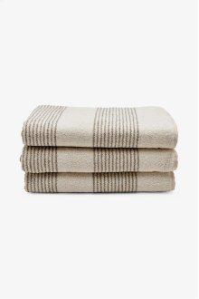 Tasha Sheet Towel Cream with Linen Stripes STYLE: THST01