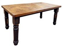6' Stone Brown Plain Table