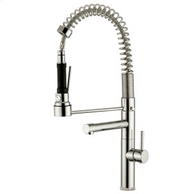 Dual stream mode kitchen faucet with pull-out professional top spray