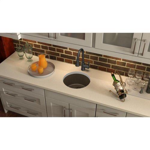 "Elkay Quartz Classic 18-1/8"" x 18-1/8"" x 7-1/2"", Single Bowl Dual Mount Bar Sink, Mocha"