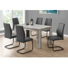 """DINING CHAIR - 2PCS / 39""""H / GREY LEATHER-LOOK / METAL Product Image"""