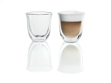2 Cappuccino Glasses for use with Espresso Machines