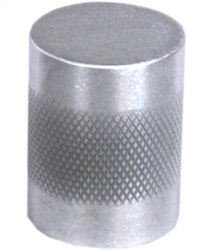 """Diamond Knurl Knob 3/4"""" diameter - Satin Chrome"""